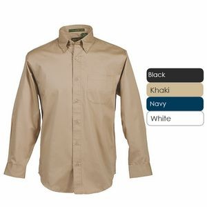 Men's Tall Long Sleeve 100% Cotton Premium Peach Twill Shirt