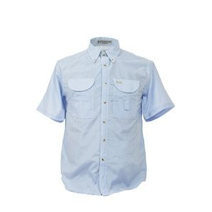 Men's Gingham Short Sleeve Fishing Shirt