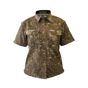 Ladies Camouflage Short Sleeve Fishing Shirt