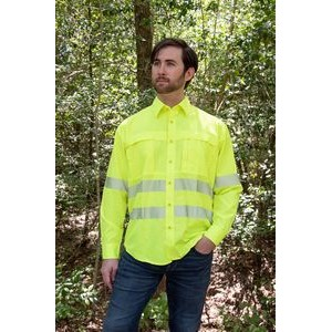 High Visibility Yellow Safety Long Sleeve Work Shirt