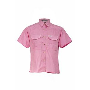 Ladies Gingham Short Sleeve Fishing Shirt