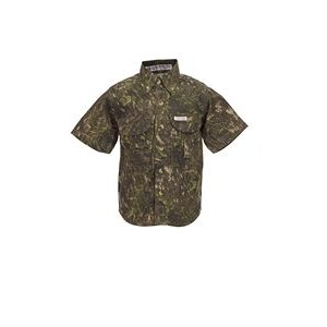 Kids Camouflage Short Sleeve Fishing Shirt